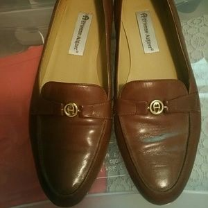 Etiene Aigner brown leather shoes loafers sz 10